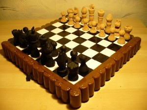 5 Chess set made of corks