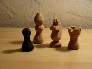 csoport Chess set made of corks